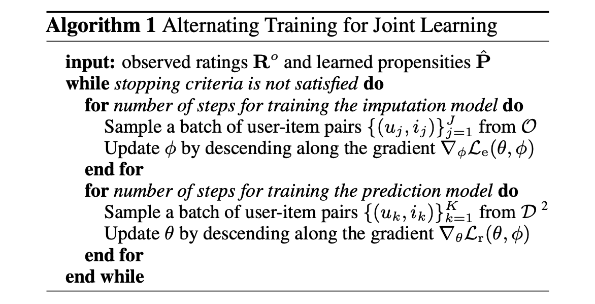 joint learning algorithm